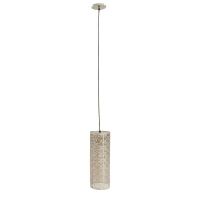 1-Light Mini Pendant Shade Color: Nickel