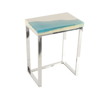Stainless Steel/Polystone 2 Piece End Table Set