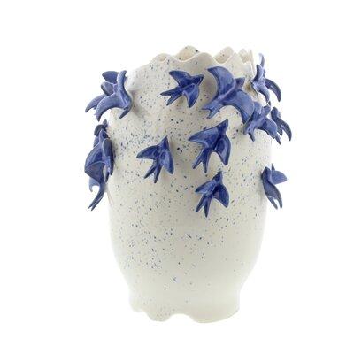 """Ceramic Floor Vase Size: 12"""" H x 9"""" W x 9"""" D"""