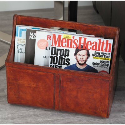 Real Leather Newspaper Holder 95064