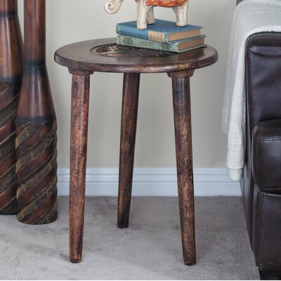 Wood Tripod Round End Table Color: Dark Brown
