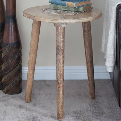 Wood Tripod Round End Table Color: Brown