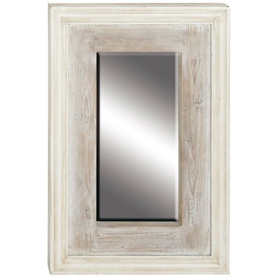 Almira 36 Traditional Wooden Rectangular Beveled Accent Mirror Size: 36 H x 24 W x 2 D