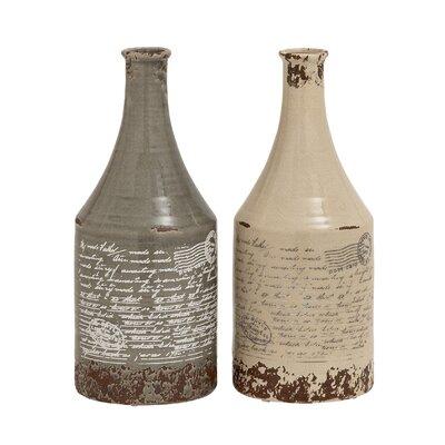 Themed Classy 2 Piece Floor Vase Set