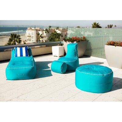 Sunbrella Bean Bag Set Upholstery: Aruba