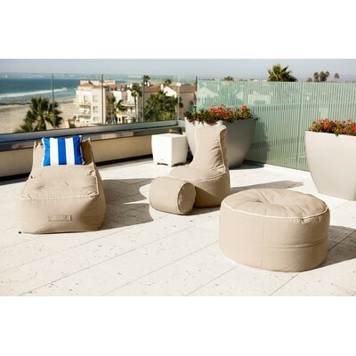 Sunbrella Bean Bag Set Upholstery: Antique Beige