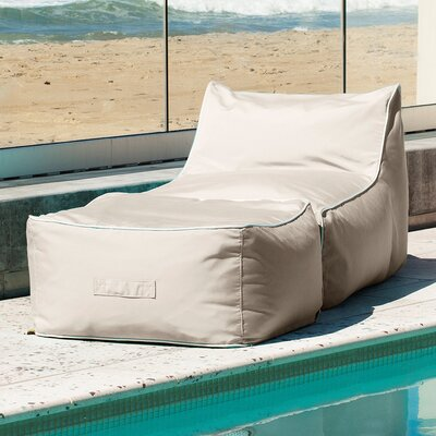 Sunbrella Bean Bag Lounger Set Upholstery: Antique Beige