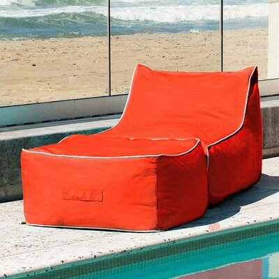 Sunbrella Bean Bag Lounger Set Upholstery: Melon