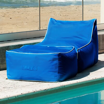 Sunbrella Bean Bag Lounger Set Upholstery: Pacific Blue