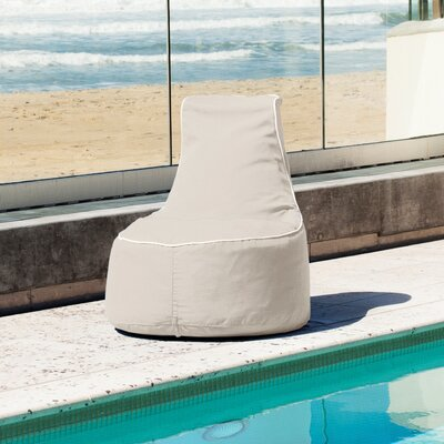 Sunbrella Bean Bag Chair Upholstery: Antique Beige