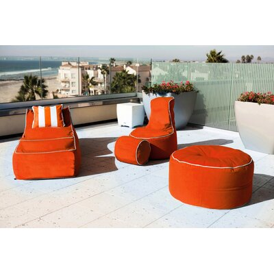 Sunbrella Bean Bag Set Upholstery: Melon