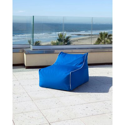 Sunbrella Kids Bean Bag Lounger Upholstery: Pacific Blue