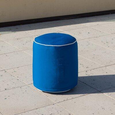 Terrance Sunbrella Pouf Ottoman Color: Pacific Blue
