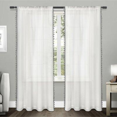 Solid Sheer Rod Pocket Curtain Panels