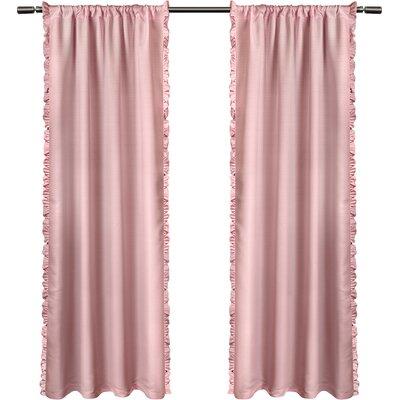 Solid Room Darkening Rod Pocket Curtain Panels