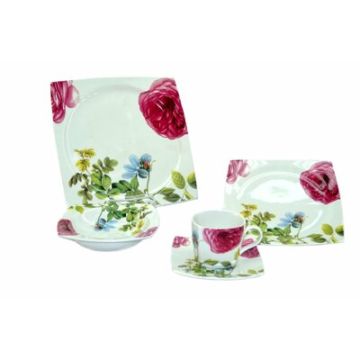 Floral 20 Piece Dinnerware Set, Service for 4 YL18350