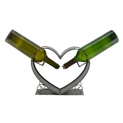 Heart 2 Bottle Tabletop Wine Rack