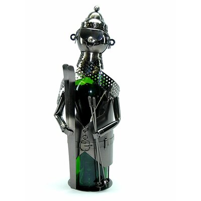 Skier Metal 1 Bottle Tabletop Wine Rack