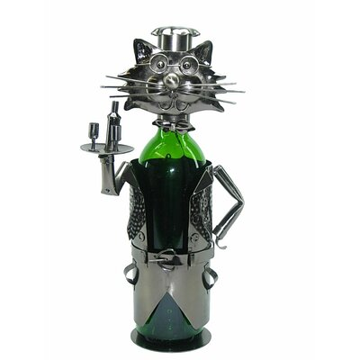 Cat Server 1 Bottle Tabletop Wine Rack