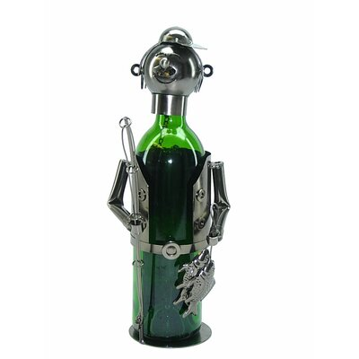 Fishing Fisherman 1 Bottle Tabletop Wine Rack