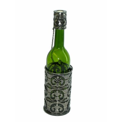 Fleur De Lis Patterned 1 Bottle Tabletop Wine Rack