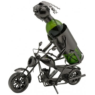 Motorcycle Rider 1 Bottle Tabletop Wine Rack ZA411