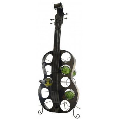 Fraser Large Guitar 10 Bottle Tabletop Wine Rack
