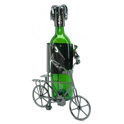 Bicyclist 1 Bottle Tabletop Wine Rack