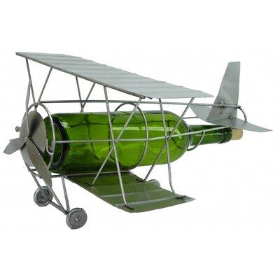 Antique Plane 1 Bottle Tabletop Wine Rack