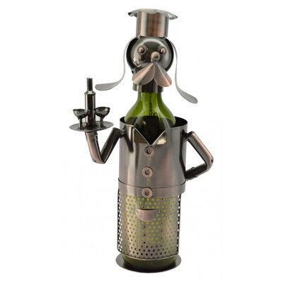 Foreside Dog Waiter 1 Bottle Tabletop Wine Rack