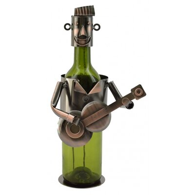Maxime Guitar Player 1 Bottle Tabletop Wine Rack