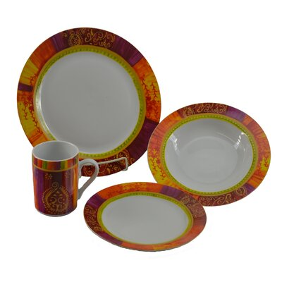16 Piece Autumn Breeze Dinnerware Set YD5261