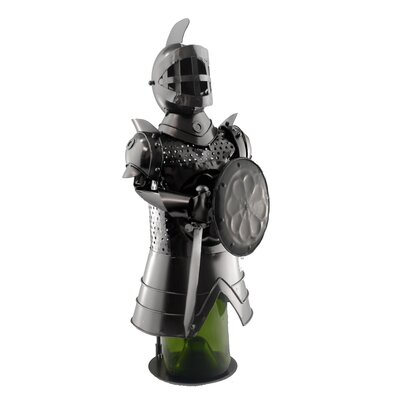 Knight with Shield 1 Bottle Tabletop Wine Rack