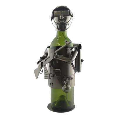 Soldier 1 Bottle Tabletop Wine Rack
