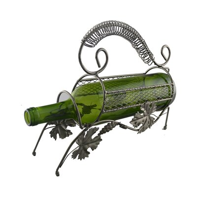 Grape Leaves 1 Bottle Tabletop Wine Rack