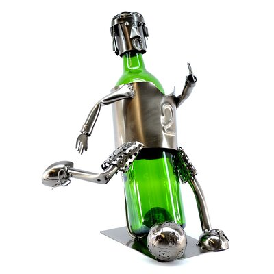 Soccer Player 1 Bottle Tabletop Wine Rack