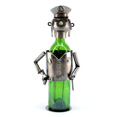 Policeman 1 Bottle Tabletop Wine Rack