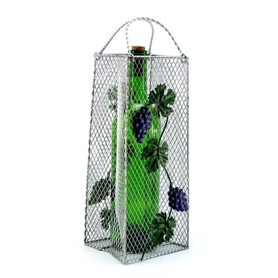 Gift Bag, Grapes 1 Bottle Tabletop Wine Rack
