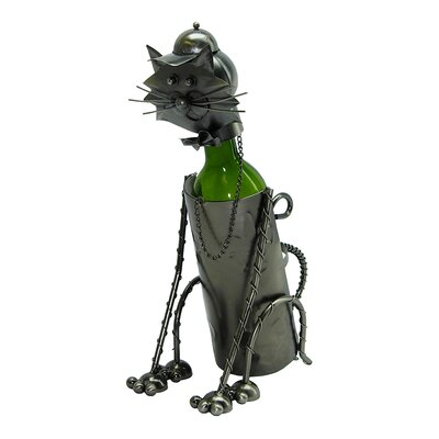 Sitting Cat 1 Bottle Tabletop Wine Rack