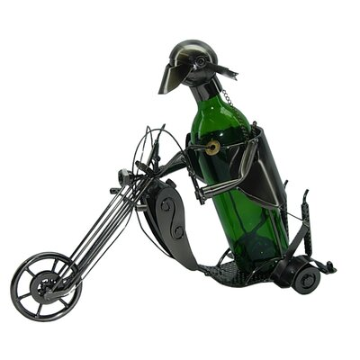 Forrest Motorcyclist 1 Bottle Tabletop Wine Rack