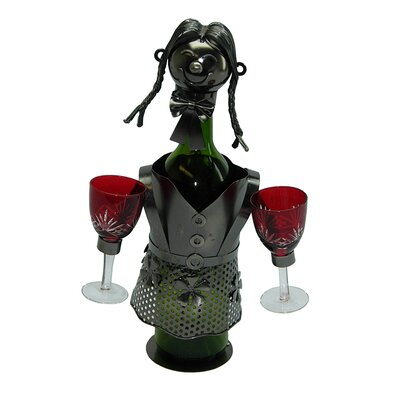 Lady Waitress 1 Bottle Tabletop Wine Rack