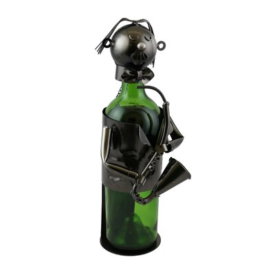 Sax Player 1 Bottle Tabletop Wine Rack