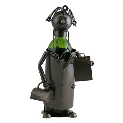 Foster Happy Doctor with Suitcase and Patient Clipboard 1 Bottle Tabletop Wine Bottle Holder