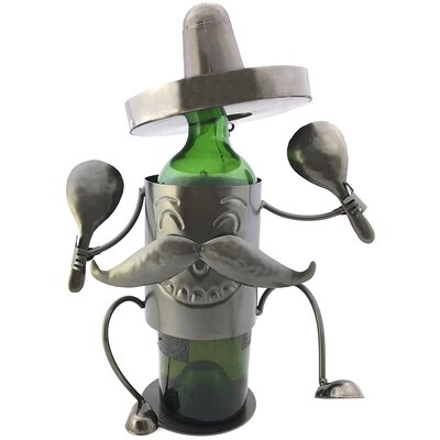 North Moore Happy Mexican Fiesta Sombrero 1 Bottle Tabletop Wine Bottle Rack