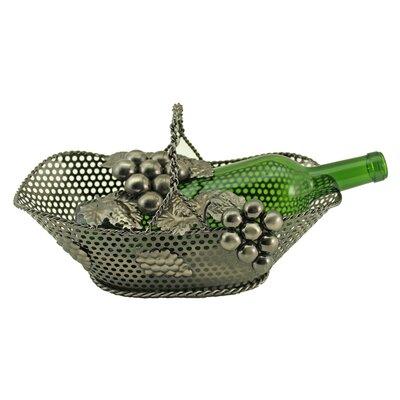 Barnstormer Kitchen Table Grape Vine Basket 1 Bottle Tabletop Handle Wine Bottle Holder