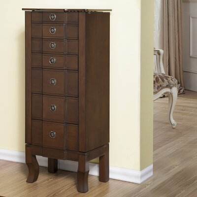 6 Drawer Jewelry Armoire Finish: Coffee