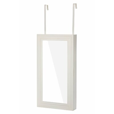 Climsland Over the Door Jewelry Armoire with Mirror Color: White