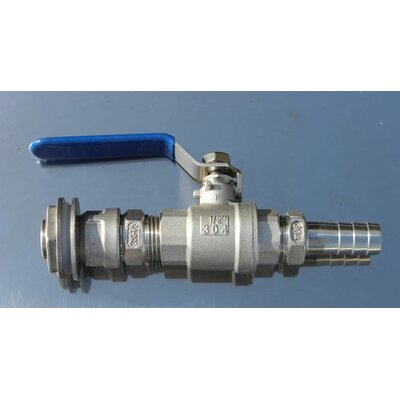 Female Ball Valve for Weldless Bulkhead Barb Hose