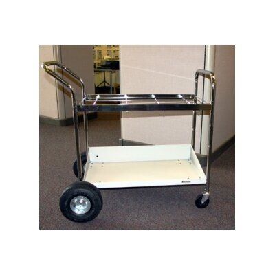 Medium File Cart with Lower Shelf and Air Tires B114