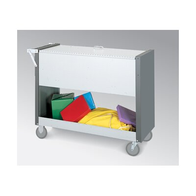 Long File Cart with Casters and Locking Top B129Y